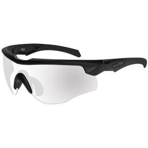 Wiley X Lunettes WX Rogue COMM avec verres transparents et monture noire mate
