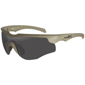 Wiley X Lunettes WX Rogue COMM avec verres couleur gris fumé + transparents + orangés et monture Tan