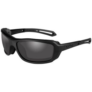 Wiley X Lunettes WX Wave avec verres couleur gris fumé et monture noire mate