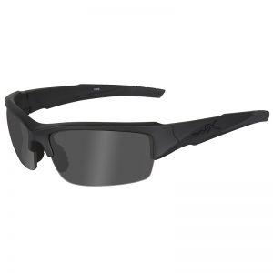 Wiley X Lunettes WX Valor avec verres couleur gris fumé Black Ops et monture noire mate