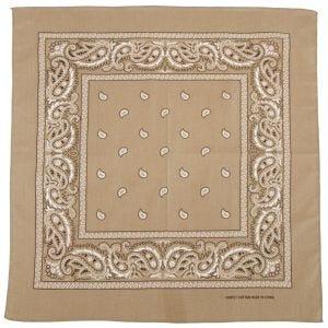 MFH Bandana en coton beige