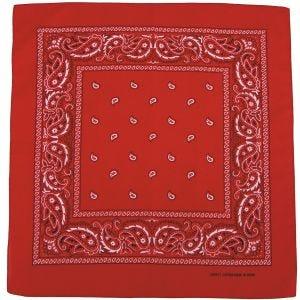 MFH Bandana en coton rouge