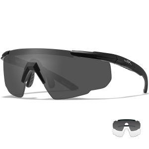 Wiley X Saber Advanced - Smoke Grey + Clear Lens / Matte Black Frame