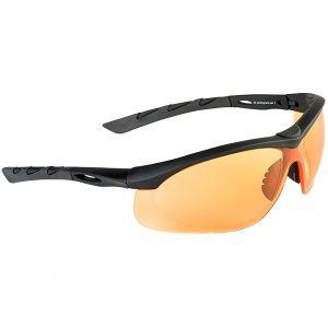 Swiss Eye Lunettes de soleil Lancer avec verres orange/monture en caoutchouc noir