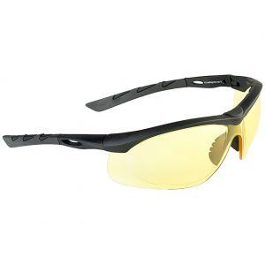 Swiss Eye Lunettes de soleil Lancer avec verres jaunes/monture en caoutchouc noir