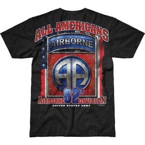 7.62 Design T-shirt Army 82nd Airborne All Americans Battlespace noir