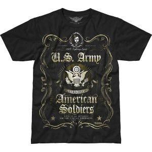 7.62 Design T-shirt Army Fighting Eagle Spirit noir