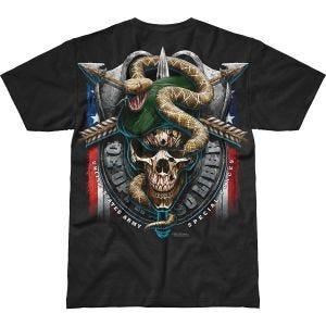 7.62 Design T-shirt Army Special Forces Green Beret Battlespace noir