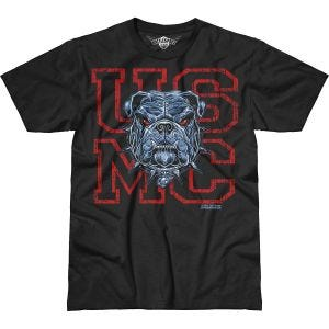 7.62 Design T-shirt USMC Dress Blue Bulldog Battlespace noir