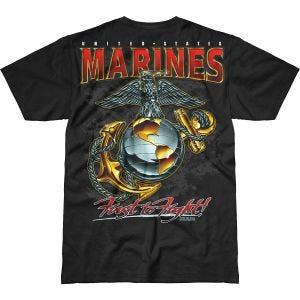 7.62 Design T-shirt USMC Eagle, Globe & Anchor Battlespace noir