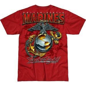 7.62 Design T-shirt USMC Eagle, Globe & Anchor Battlespace Scarlet