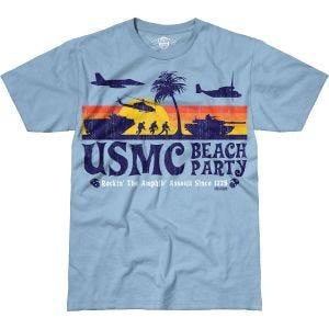 7.62 Design T-shirt USMC Beach Party Battlespace Sky Blue