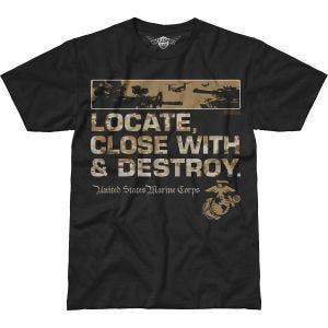 7.62 Design T-shirt USMC Locate Battlespace noir