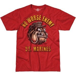 7.62 Design T-shirt USMC No Worse Enemy Battlespace Scarlet Heather