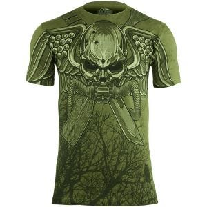 7.62 Design T-shirt USMC Recon Swift Silent Deadly Military Green
