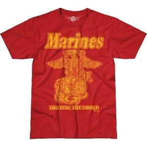 7.62 Design T-shirt USMC Retro Battlespace Scarlet