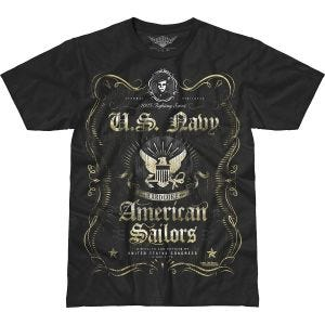 7.62 Design T-shirt USN Fighting Spirit Battlespace noir