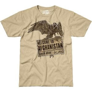 7.62 T-Shirt design Welcome To Afghanistan couleur sable