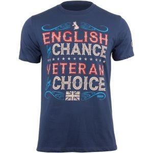7.62 Design T-shirt Veteran By Choice English Indigo Blue