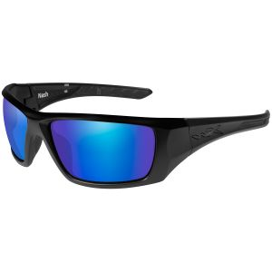 Wiley X WX Nash Glasses - Polarized Blue Mirror Lens / Matte Black Frame