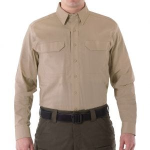 First Tactical Men's V2 Long Sleeve Tactical Shirt Khaki