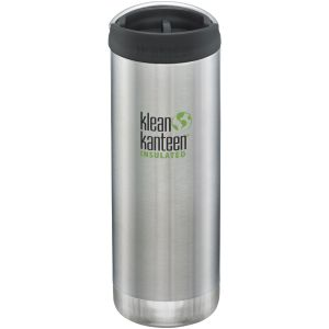 Klean Kanteen TKWide Gourde isolante 473 ml avec Bouchon Café 2.0 Brushed Stainless