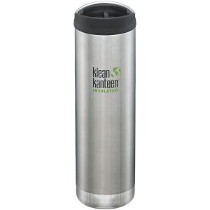 Klean Kanteen TKWide Gourde isolante 591 ml avec Bouchon Café 2.0 Brushed Stainless