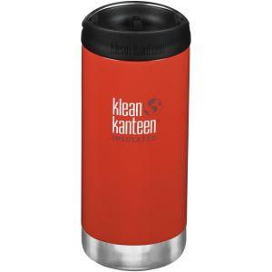Klean Kanteen TKWide Gourde isolante 355 ml avec Bouchon Café 2.0 Post Box Rouge