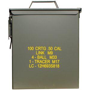 Mil-Tec Boîte à munitions US M9 Cal,50 grande taille vert olive