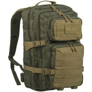 Mil-Tec Sac à dos US Assault MOLLE grande taille Ranger Green/Coyote