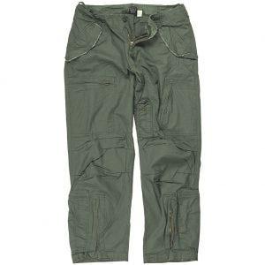 Mil-Tec Pantalon de pilote en popeline de coton prélavée vert olive