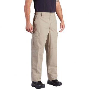 Propper Pantalon BDU en polycoton sergé avec braguette à boutons Kaki
