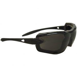 Swiss Eye Lunettes de soleil Detection avec verres fumés/transparents et monture en caoutchouc noir