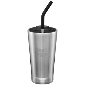 Klean Kanteen 473ml Tumbler Vacuum Insulated Straw Lid Brushed Stainless