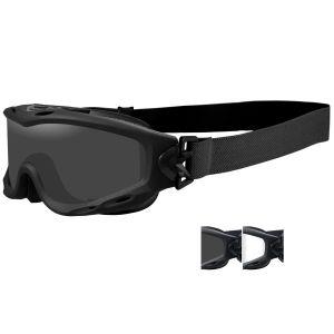 Wiley X Masque Spear avec verres couleur gris fumé + transparents et monture noire mate