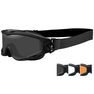 Wiley X Masque Spear avec verres couleur gris fumé + transparents + orangés et monture noire mate