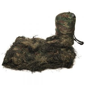 Mil-Tec Couverture Ghillie Anti Fire 300 x 200 cm Woodland