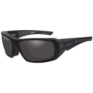 Wiley X Lunettes WX Enzo avec verres couleur gris fumé et monture noire mate