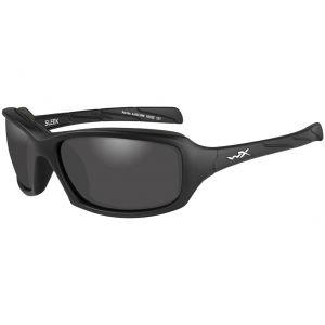 Wiley X Lunettes WX Sleek avec verres couleur gris fumé et monture noire mate
