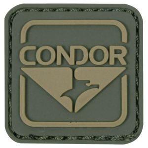 Condor Écusson en PVC vert/marron