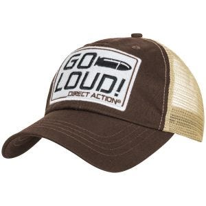 Direct Action Casquette Feed GO LOUD! marron