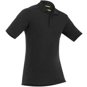 First Tactical Polo homme à manches courtes en coton avec poche pour stylo noir