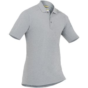 First Tactical Polo homme à manches courtes en coton avec poche pour stylo Heather Grey