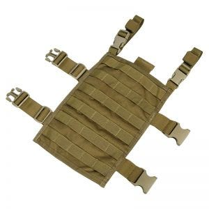 Flyye Plateforme de cuisse rectangulaire MOLLE Coyote Brown