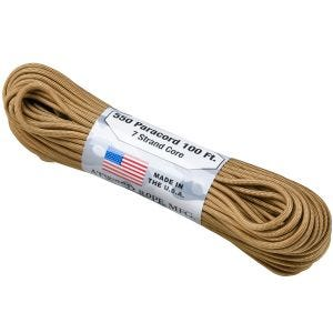 Atwood Paracorde Rope 550 lbs Coyote