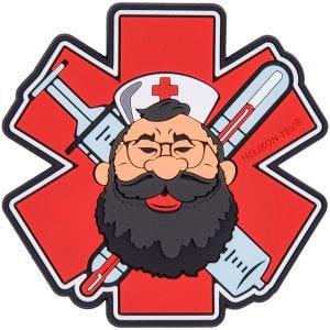 Helikon Écusson Beardman Medic rouge