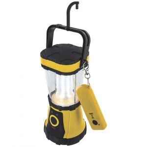 Highlander Lanterne à 24 LED avec télécommande jaune/noire