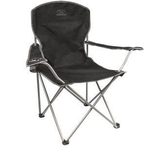 Highlander Chaise de camping pliante noire