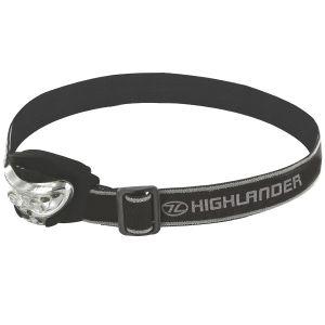 Highlander Lampe frontale Vision 2+1 LED noire
