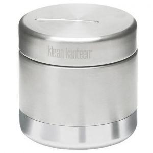 Klean Kanteen Boîte à aliments 237 ml isolante sous vide en acier inoxydable brossé